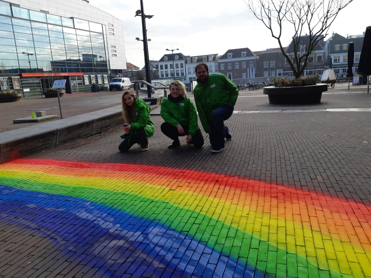 Jongeren GroenLinks willlen gaybrapad in Alphen