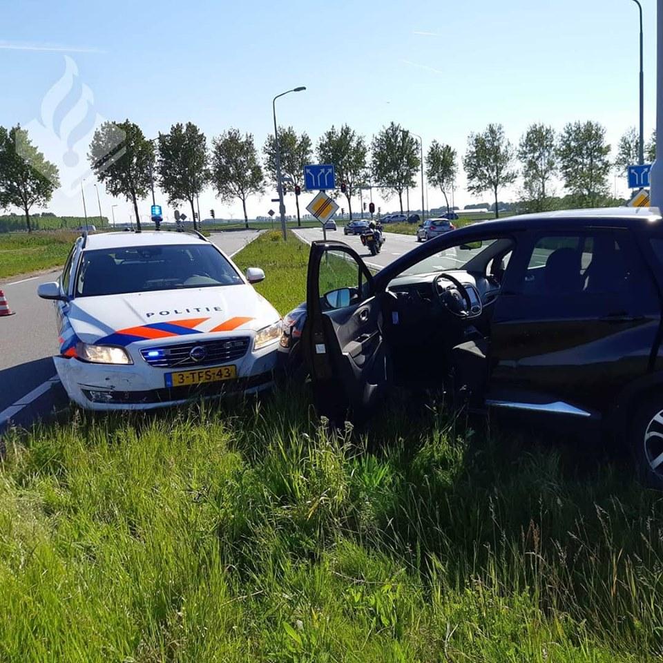 Alphenaar klem gereden door politie in Hoofddorp