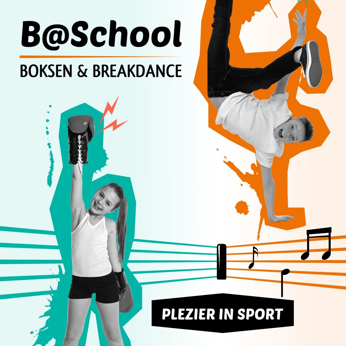 Boksen en breakdance op basisschool Het Palet