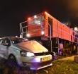 Aanrijding tussen trein en auto op de Magazijnweg